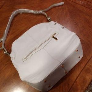 NEW White leather Theresa Kathryn bag